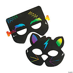 Magic Color Scratch Halloween Masks
