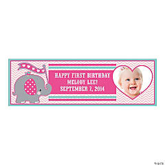 Medium Elephant Custom Photo Banner