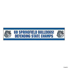 Jumbo Blue Custom Photo Stadium Banner