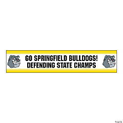 Jumbo Yellow Custom Photo Stadium Banner