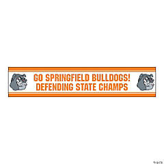 Jumbo Orange Custom Photo Stadium Banner