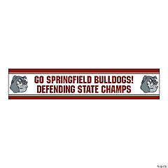 Jumbo Burgundy Custom Photo Stadium Banner