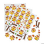 Fall Owl Self-Adhesive Shapes