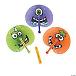 Paper Monster Party Folding Fans