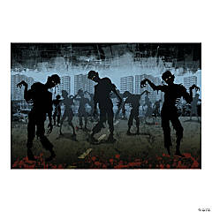 Plastic Zombies Backdrop Banner