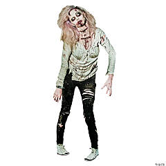 Cardboard Zombie Woman Jointed Cutout