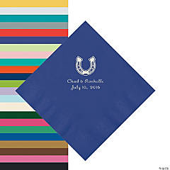 Personalized Horseshoe Napkins