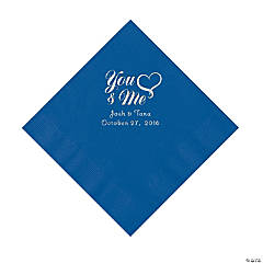 Blue Me & You Heart Personalized Napkins - Luncheon