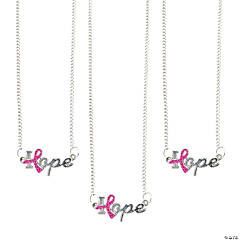 Pink Ribbon Hope Necklaces