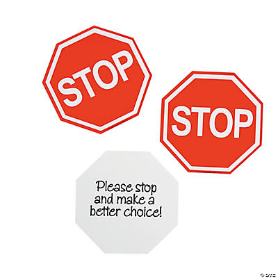 Student Stop Sign Cards