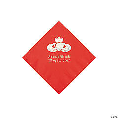 Red Irish Personalized Napkins - Beverage
