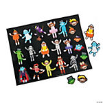 Sock Monkey Halloween Costume Stickers