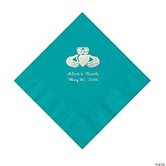 Turquoise Irish Personalized Napkins - Luncheon