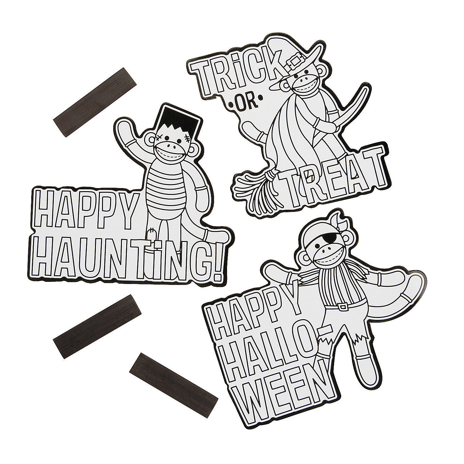 Color Your Own Halloween Sock Monkey