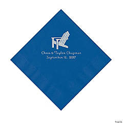 Blue Beach Chair Personalized Napkins- Luncheon