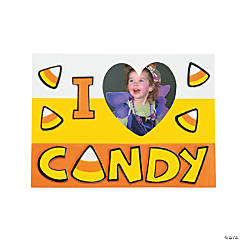 I Love Candy Picture Frame Magnet Craft Kit