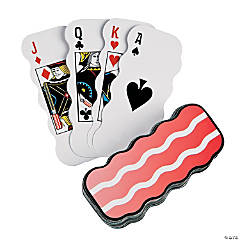 Bacon-Shaped Playing Cards