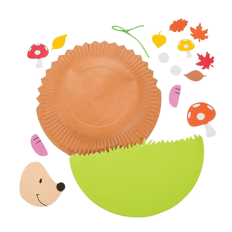 paper plate hedgehog craft - photo #19