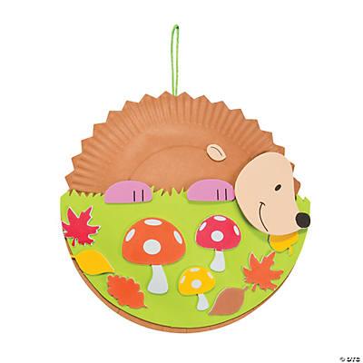 paper plate hedgehog craft - photo #14