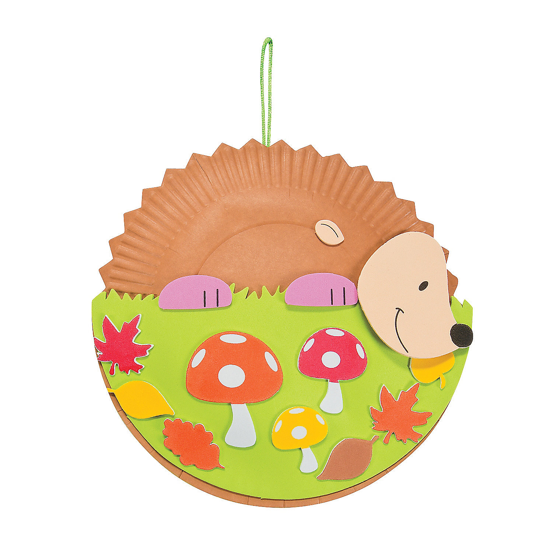 Paper plate hedgehog craft kit paper plate crafts crafts for Craft kits for preschoolers