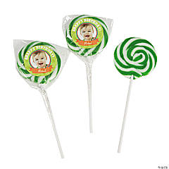 Custom Photo Snappy Birthday Swirl Pops