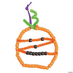 Beaded Jack-O'-Lantern Ornament Craft Kit
