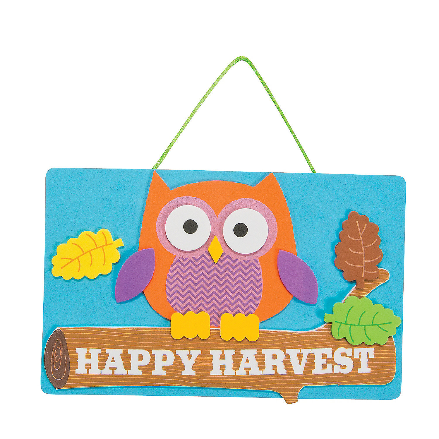 Harvest owl sign craft kit sign crafts crafts for kids for Harvest crafts for kids