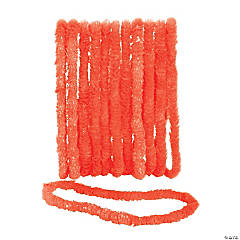 School Spirit Orange Plastic Leis