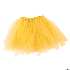Yellow Tulle Tutu Skirt for Adults