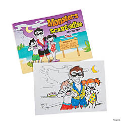 Monsters in Scare-adise Coloring Books