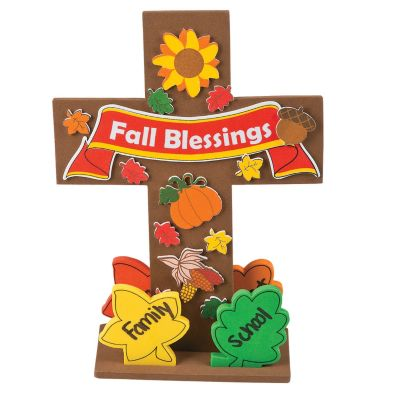 12 Fall Thanksgiving cross craft kit