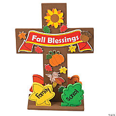 Fall Blessing Stand-Up Cross Craft Kit