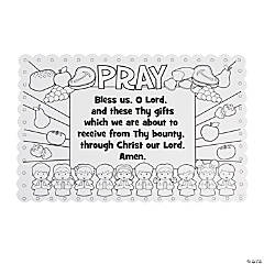 Color Your Own Prayer Place Mats
