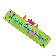 Zipper Monster Cuff Bracelet Craft Kit