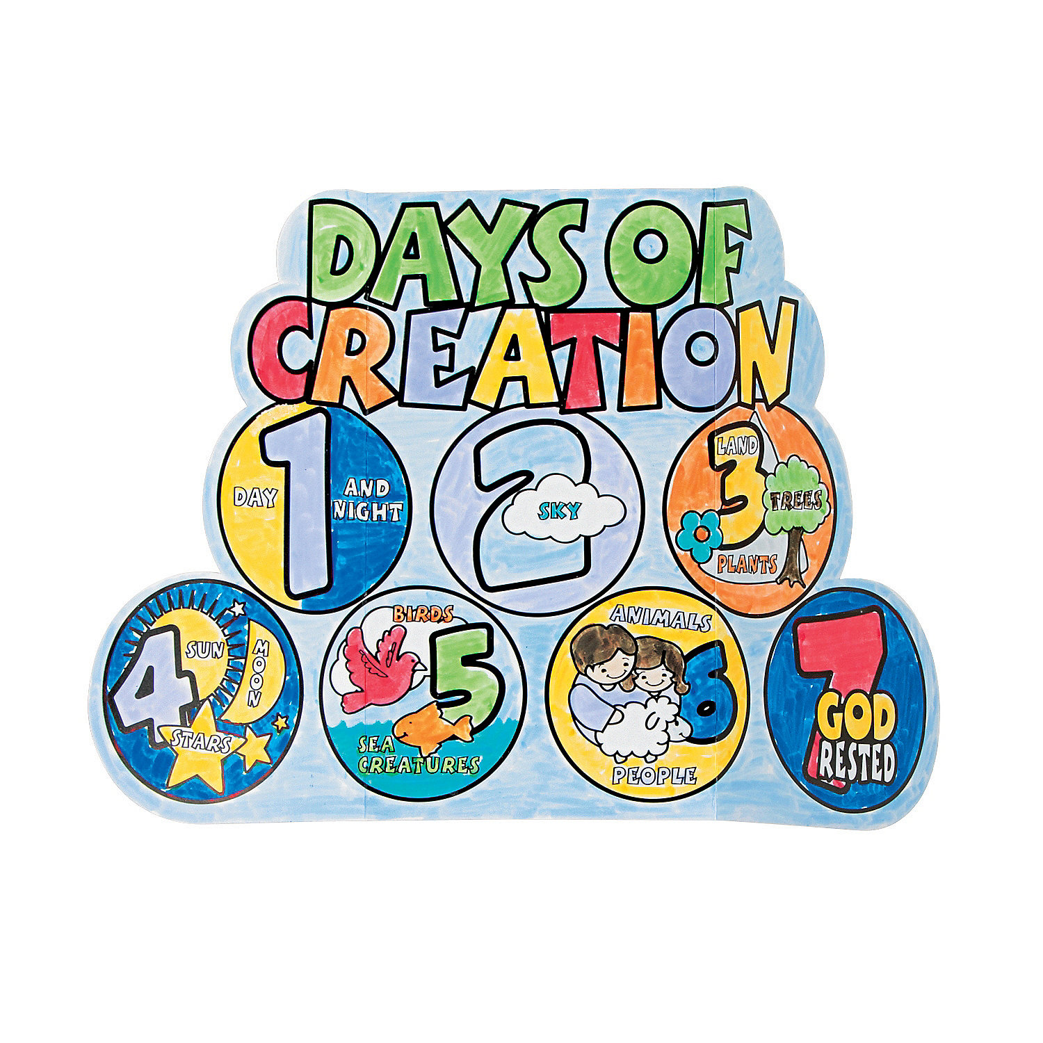 Color Your Own 7 Days Of Creation Displays