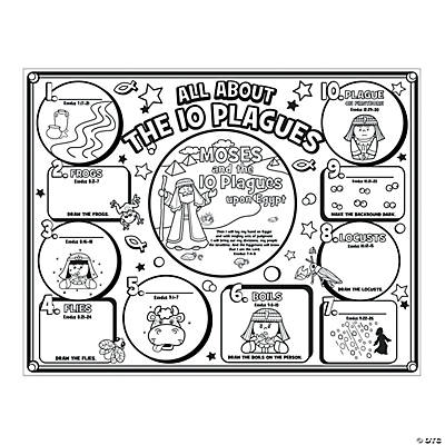 "Color Your Own ""All About The 10 Plagues"" Posters"