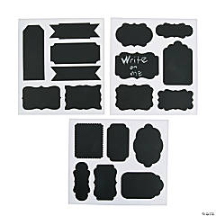 Shaped Chalkboard Stickers