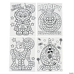 Paper Halloween Dot Activity Sheets