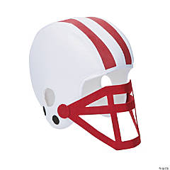 Burgundy Team Spirit Football Helmet