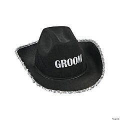 Polyester Groom Cowboy Hat