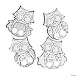 Color Your Own Owl Finger Puppets