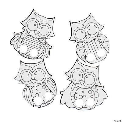 Coloring Finger Puppets Color Your Own Owl Finger