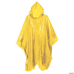 Yellow Rain Ponchos for Adults