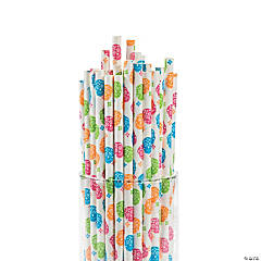 Day of the Dead Paper Straws