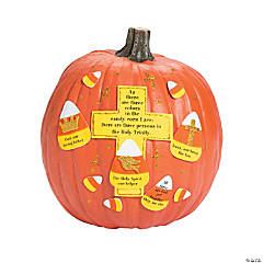 Candy Corn Trinity Pumpkin Decorating Craft Kit