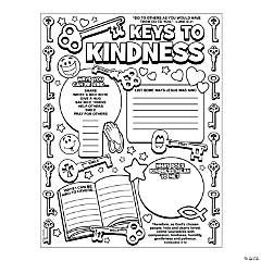 "Color Your Own ""Key to Kindness"" Posters"