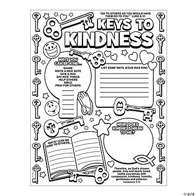 "Color Your Own ""Key to Kindness"" Posters, Coloring Crafts"