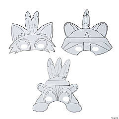 Color Your Own Fall Friends Masks