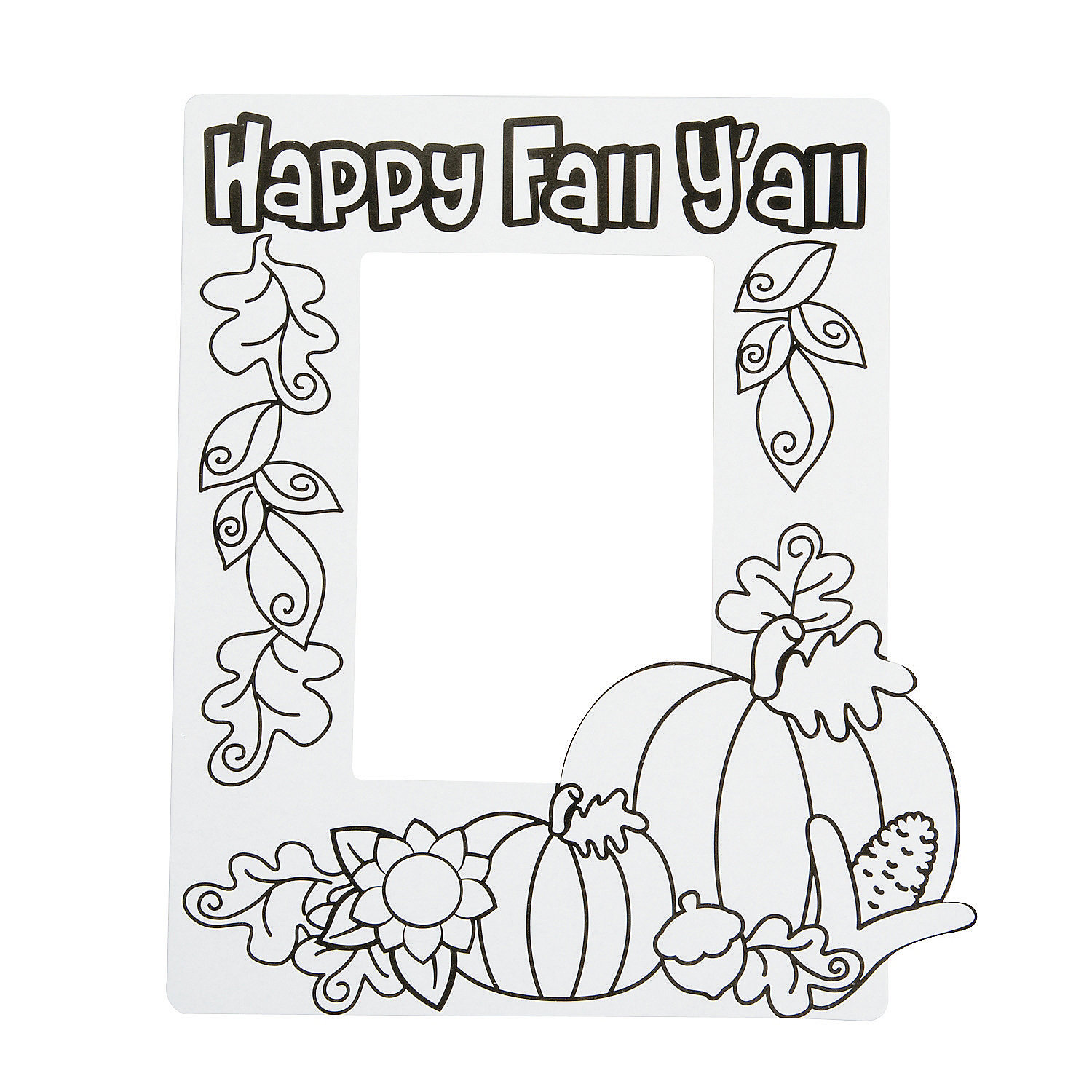 oriental trading coloring pages printable coloring image color your own happy fall y all picture frame magnets