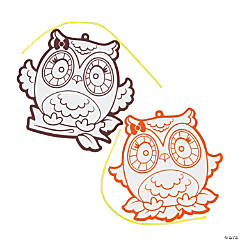 Color Your Own Fuzzy Owl Ornaments